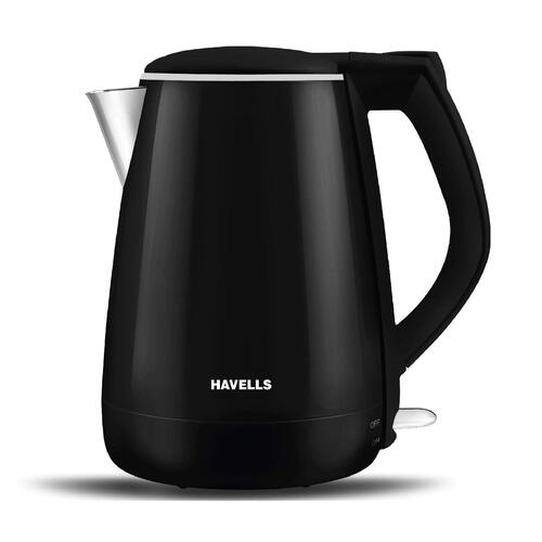best electric kettle brand Havells Aqua Plus 1.2 liter (Black, 1500 Watt)